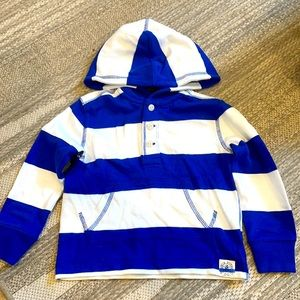 Polo by Ralph Lauren blue and white hoodie 2T